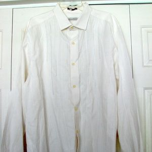 Men's Tommy Bahama shirt off white xl